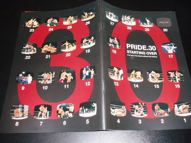 PRIDE.30 パンフレット