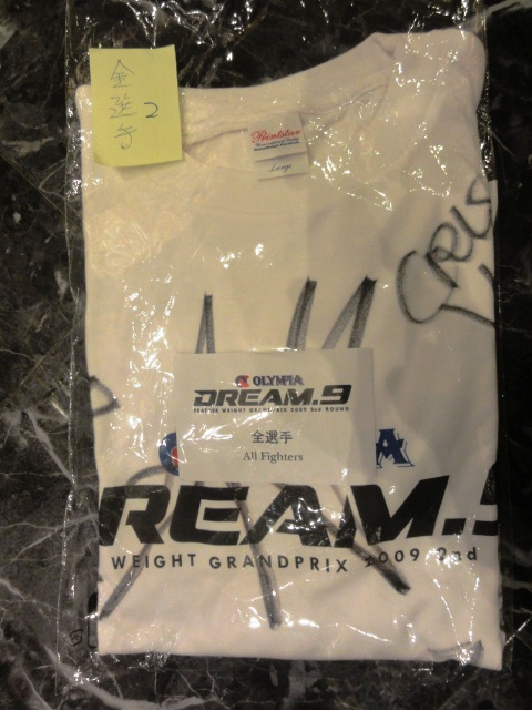 DREAM.9 全選手サイン入りTシャツ