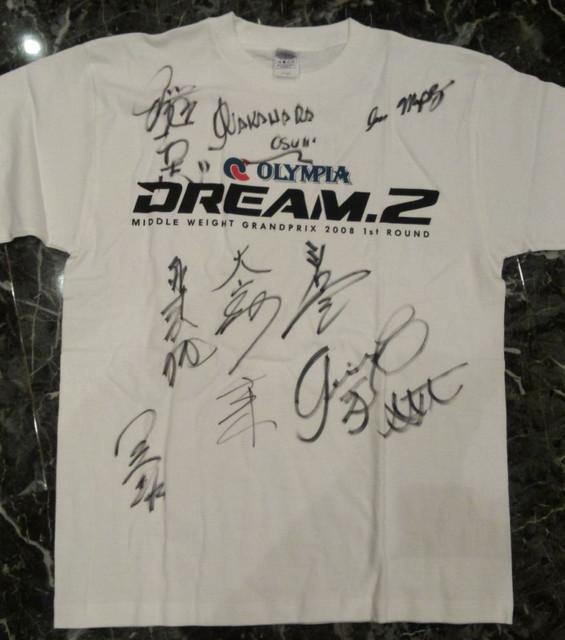 DREAM.2 全選手サイン入りTシャツ