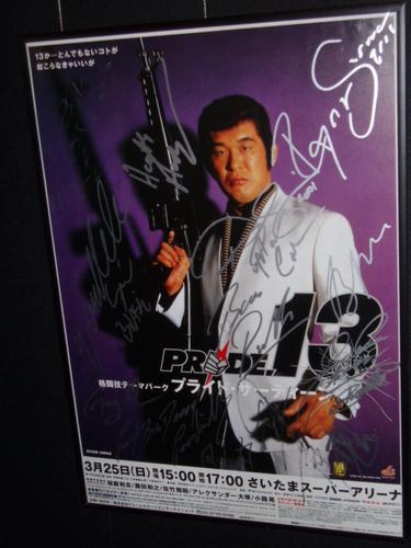 PRIDE13 出場全選手サイン入り大会ポスター