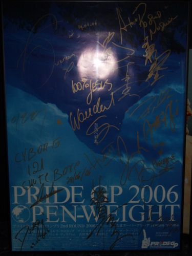 PRIDE GP2006 2nd 出場全選手サイン入り大会ポスター